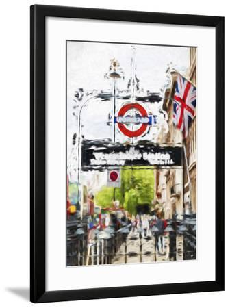 Westminster Station - In the Style of Oil Painting-Philippe Hugonnard-Framed Giclee Print