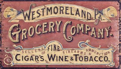 Westmoreland Grocery Company Vintage Wood Sign