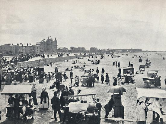 'Weston-Super-Mare - A Summer Scene on the Sands', 1895-Unknown-Photographic Print