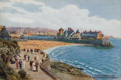 Weston-Super-Mare, Knightstone Pier and Two Bays-Alfred Robert Quinton-Giclee Print