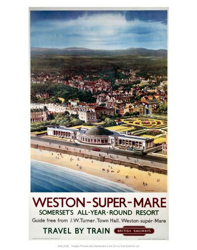 Weston-Super-Mare, Somerset's All-Year-Round Resort--Art Print