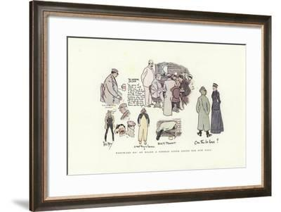 Westward Ho! on Board a German Liner Bound for New York-Phil May-Framed Giclee Print