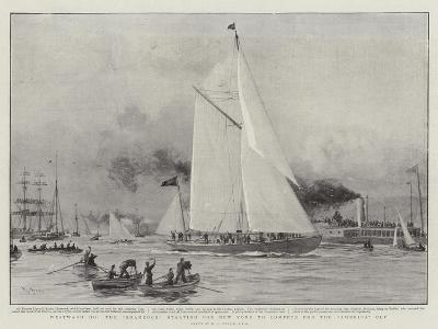 Westward Ho, the Shamrock Starting for New York to Compete for the America Cup-William Lionel Wyllie-Giclee Print