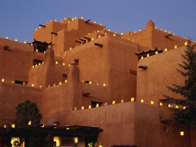 Farolitos at Loretto During the Christmas Season, at Santa Fe, New Mexico, USA