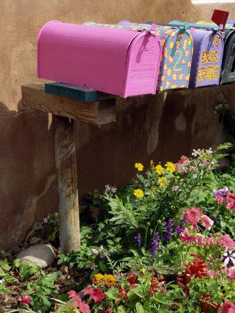 Mail Boxes, Santa Fe, New Mexico, United States of America, North America