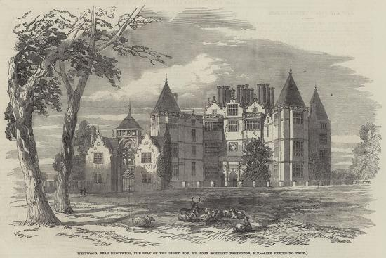 Westwood, Near Droitwich, the Seat of the Right Honourable Sir John  Somerset Pakington, Mp Giclee Print by | Art com