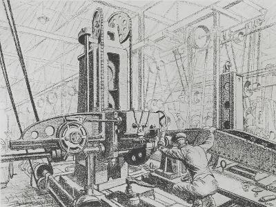 Westwood Works, Peterborough, in Production During the First World War, 1918-Rudolph Ihlee-Giclee Print