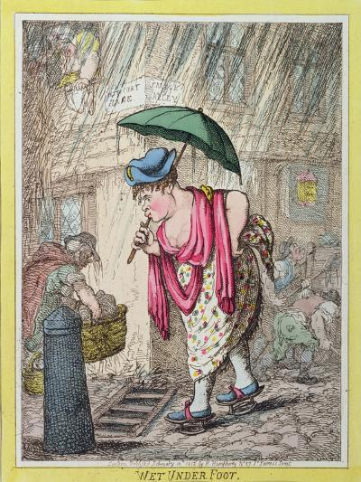 Wet under Foot, Published by Hannah Humphrey in 1812--Giclee Print