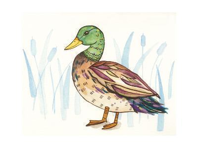 Wetland Mallard I-Rebekah Ewer-Art Print