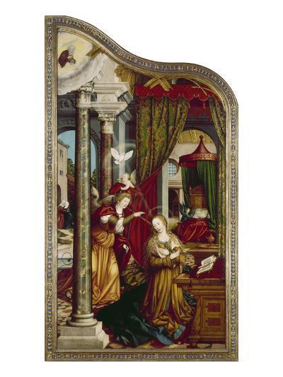 Wettenhausener Altar. Inner Left Panel: Annunciation, 1523-Martin Schaffner-Giclee Print