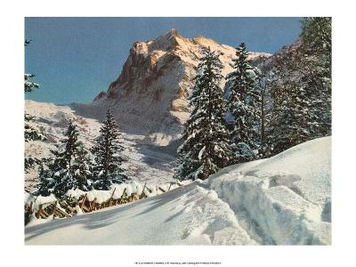 Wetterhorn Mountain, Switzerland, 1949--Art Print