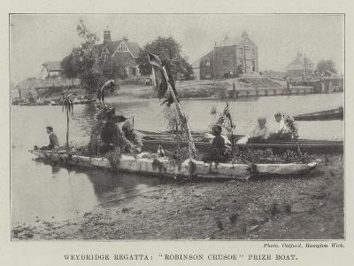 Weybridge Regatta, Robinson Crusoe Prize Boat--Giclee Print