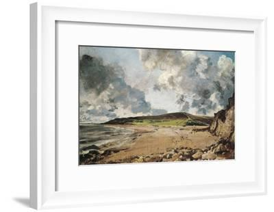 Weymouth Bay: Bowleaze Cove and Jordon Hill-John Constable-Framed Art Print
