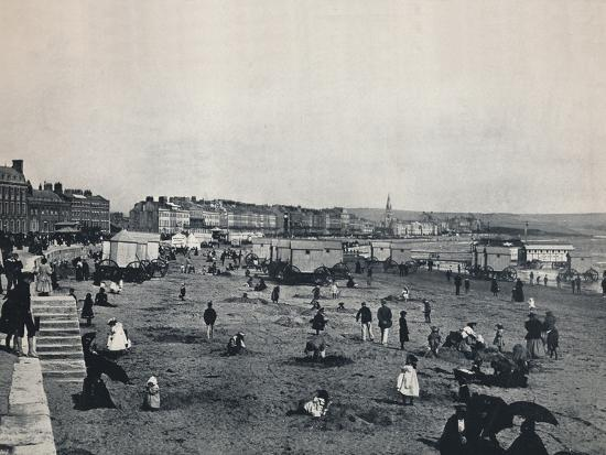 'Weymouth - General View of the Town and the Beach', 1895-Unknown-Photographic Print
