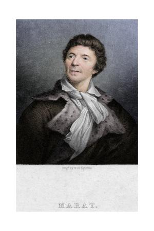 Jean-Paul Marat (1743-1793), physician, scientist and political theorist, c1830