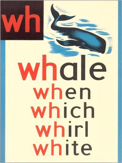 WH for Whale--Art Print