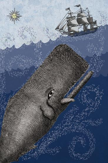 Whale and Ship 3F-Erin Clark-Giclee Print