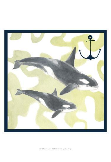 Whale Composition III-Megan Meagher-Art Print