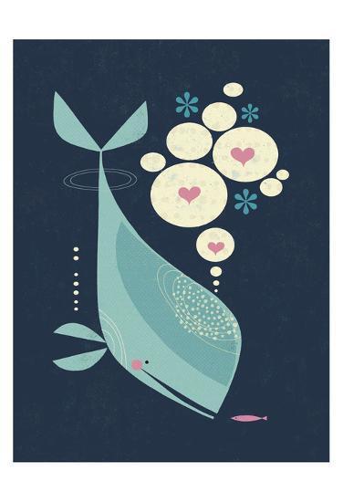 Whale has a Friend-Tracy Walker-Art Print