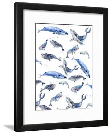 Whale Pattern-Suren Nersisyan-Framed Art Print