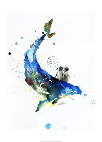 Whale-Lora Zombie-Art Print