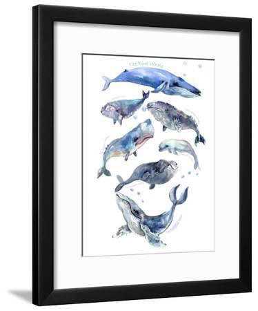 Whales 2-Suren Nersisyan-Framed Art Print