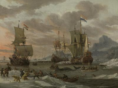 Whaling Grounds in the Arctic Ocean, 1665-Abraham Storck-Giclee Print