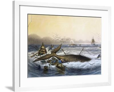 Whaling in South Seas--Framed Giclee Print