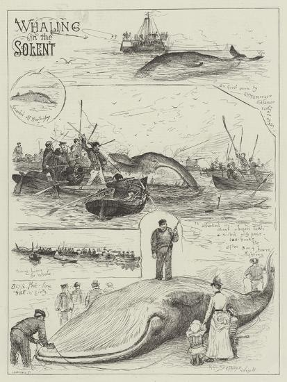 Whaling in the Solent-Henry Charles Seppings Wright-Giclee Print