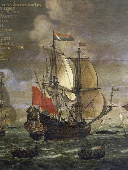 Whaling, Painting by Johannes Becx (Active 1658-1686), Detail--Giclee Print