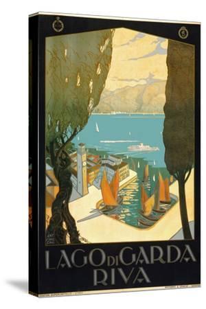 Wharf on Lake Garda Italy