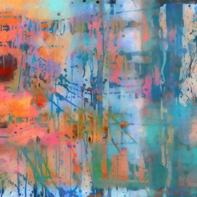 What a Color Art Series Abstract 8-Ricki Mountain-Art Print