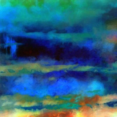 What a Color Art Series Abstract X-Ricki Mountain-Art Print