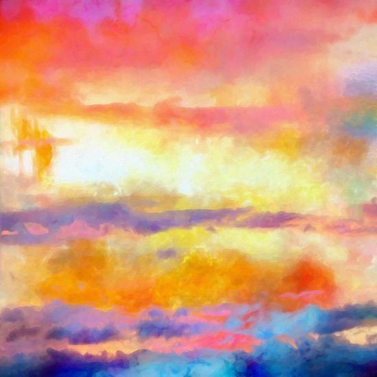 What a Color Art Series Abstract-Ricki Mountain-Art Print