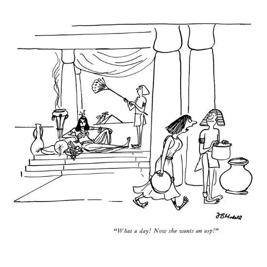 """""""What a day! Now she wants an asp!"""" - New Yorker Cartoon-Frank Modell-Premium Giclee Print"""