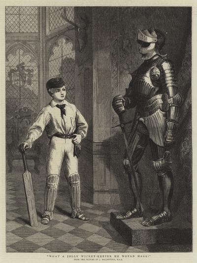 What a Jolly Wicket-Keeper He Would Make!-John Ballantyne-Giclee Print