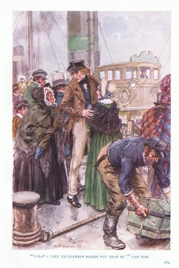 """""""What a Very Ill-Natured Person You Must Be"""" Said Tom-Charles Edmund Brock-Giclee Print"""