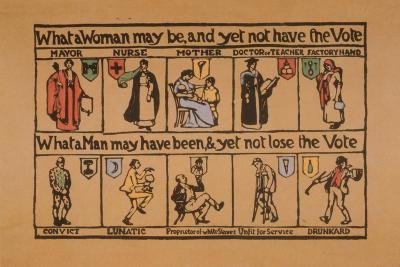 What a Woman May Be, and Yet Not Have the Vote--Giclee Print