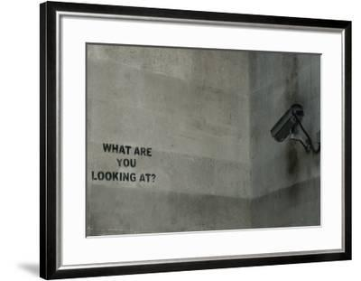 What Are You Looking At-Banksy-Framed Giclee Print