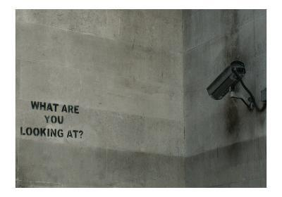 What Are You Looking At-Banksy-Giclee Print
