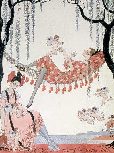 What Do Young Women Dream Of? 1918-Georges Barbier-Giclee Print
