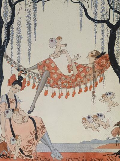 What Do Young Women Dream Of?; a Quoi Revent Les Jeunes Filles?-Georges Barbier-Giclee Print