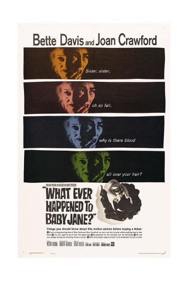 What Ever Happened To Baby Jane?, 1962, Directed by Robert Aldrich--Giclee Print
