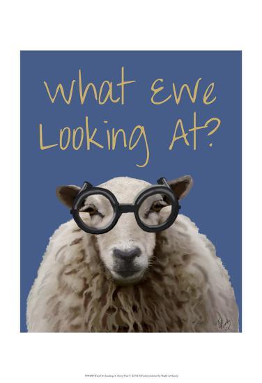 What Ewe Looking At Sheep Print-Fab Funky-Art Print