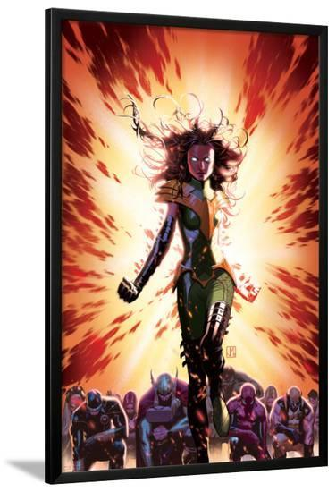 What If? Avx #3 Cover: Summers, Hope, Thor, Spider-Man, Wolverine, Cyclops, Phoenix, Storm-Jorge Molina-Lamina Framed Poster