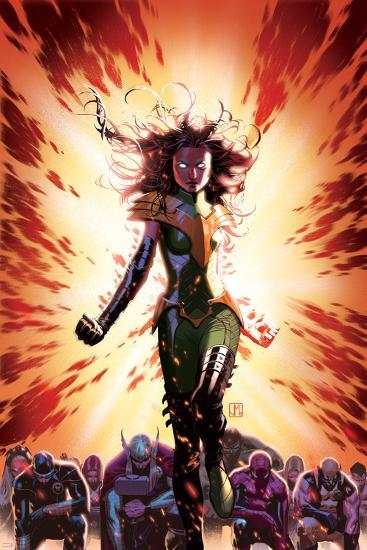 What If? Avx #3 Cover: Summers, Hope, Thor, Spider-Man, Wolverine, Cyclops, Phoenix, Storm-Jorge Molina-Art Print
