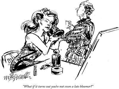 """""""What if it turns out you're not even a late bloomer?"""" - New Yorker Cartoon-William Hamilton-Premium Giclee Print"""