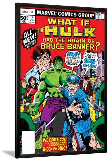 What If? No.2 Cover: Hulk, Thunderbolt Ross, Banner and Bruce-Herb Trimpe-Lamina Framed Poster