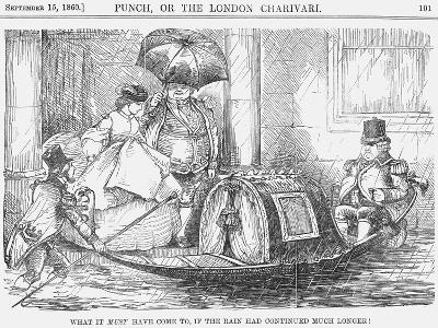 What it Must Have Come To, If the Rain Had Continued Much Longer!, 1860--Giclee Print