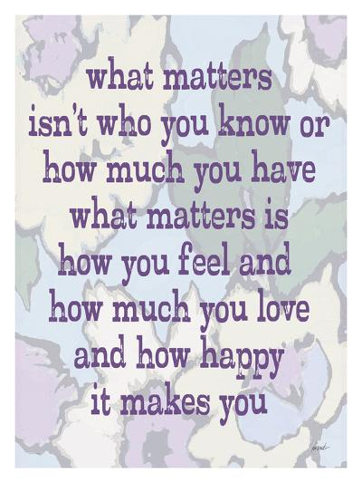 What Matters-Lisa Weedn-Giclee Print